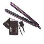 Silver Bullet Black Crystal Straightening Iron- Purple
