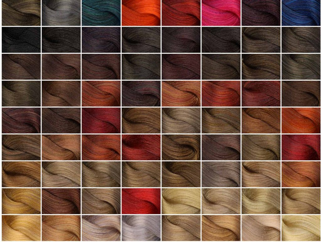 aura hair colour samples gallery